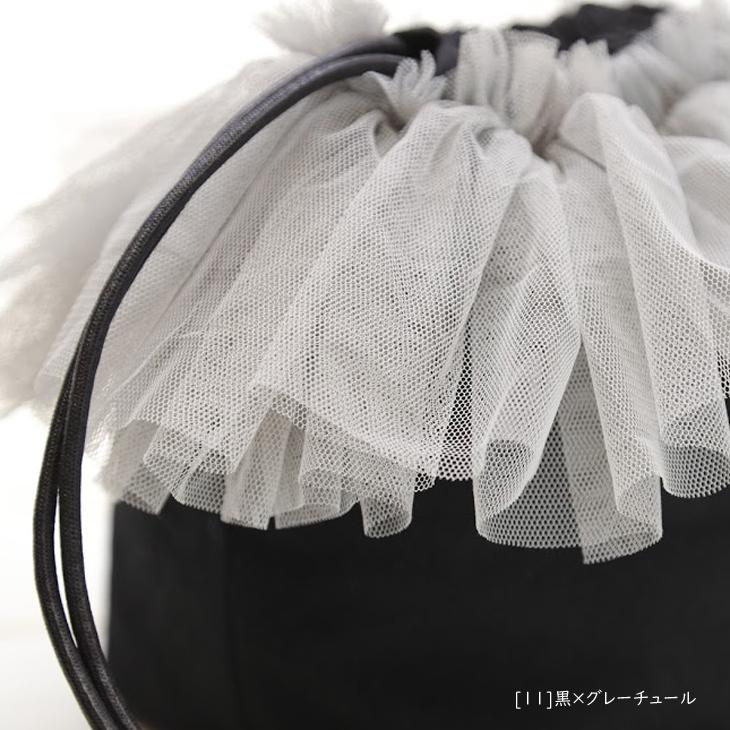 子供バッグ,子供巾着バッグ,名前入り,黒×グレーチュール