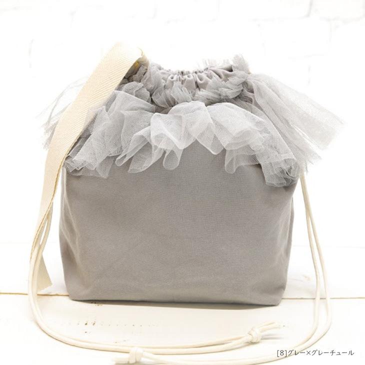 子供バッグ,子供巾着バッグ,名前入り,グレー×グレーチュール