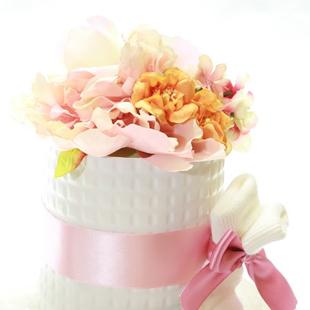 おむつケーキ,女の子,お花