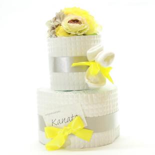 おむつケーキ,女の子,3000円,黄色