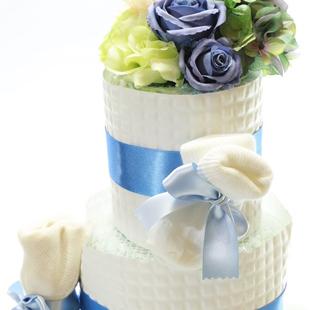 おむつケーキ,男の子,お花