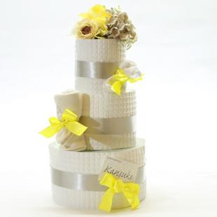 おむつケーキ,女の子,5000円,黄色