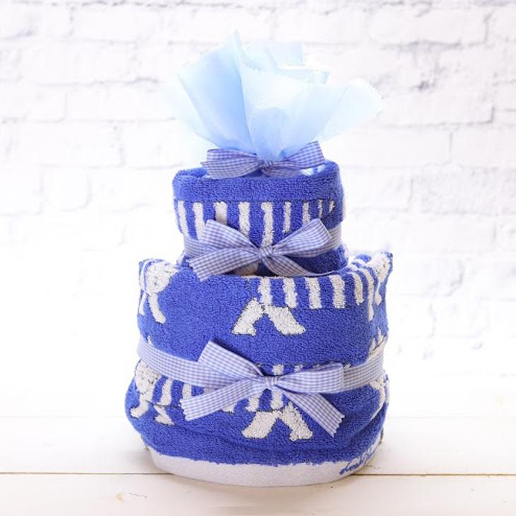 リサラーソン,おむつケーキ,男の子用,青,正面