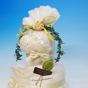 おむつケーキ,オムツケーキ,オーガニック,男の子,2段
