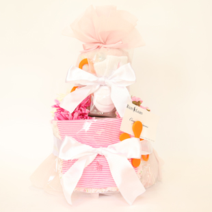 おむつケーキ,女の子,ラルフローレン,出産祝い