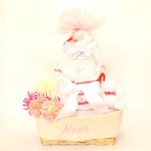 おむつケーキ,名入れ,ラルフローレン,出産祝い
