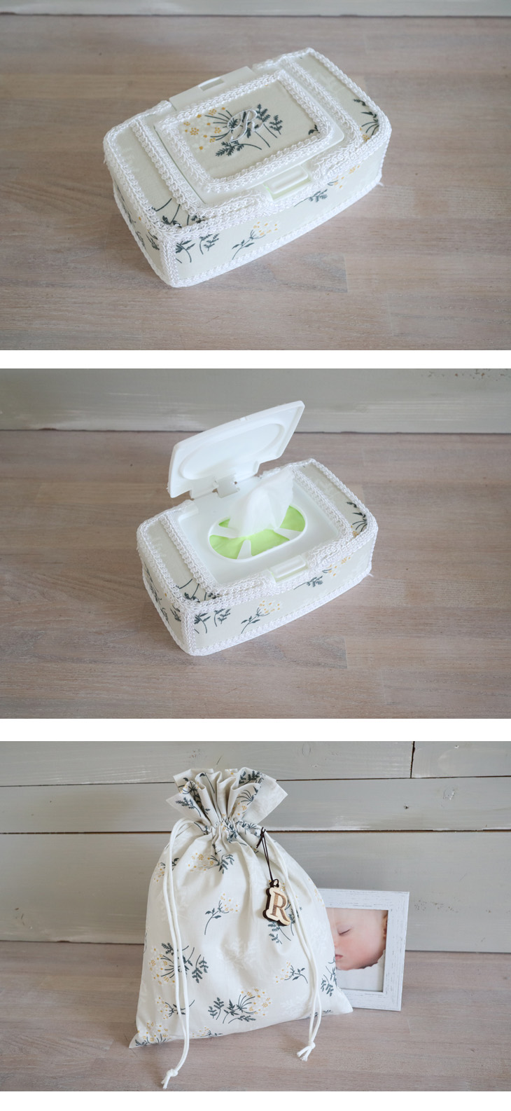 出産祝いギフトセット,TOP写真,花柄,イメージ2