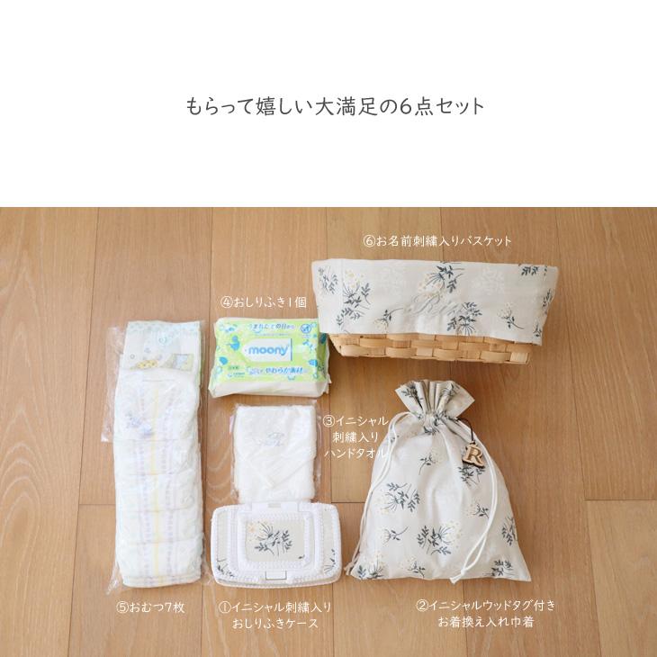 出産祝いギフトセット,TOP写真,花柄,セット内容